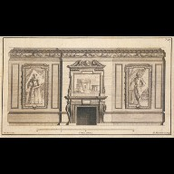 ENGRAVING of a drawing room