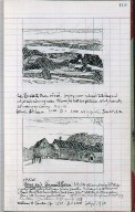Artist's ledger - Book III: P. 119 THE ELIZABETH SHORE HORSE AND VERMONT BARNS