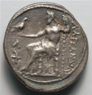 Tetradrachm: Zeus Aetophoros Enthroned, Holding Staff (reverse)