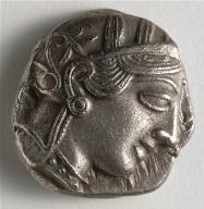 Tetradrachm: Head of Athena (obverse)