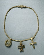 Chain with Pendant and Two Crosses