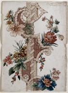 [Vertical Decorative Floral Band, Page with Vertical Decorative Band]