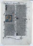 Single Leaf from a Latin Bible: Jonah