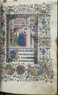 Hours of Charles the Noble, King of Navarre (1361-1425): The Visitation (Lauds), fol. 55 (recto)