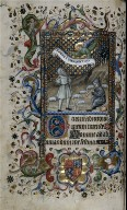 Hours of Charles the Noble, King of Navarre (1361-1425): Annunciation to the Shepherds (Tierce), fol. 74 (verso)