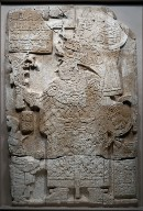 Front Face of a Stela (Free-standing Stone with Relief)
