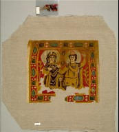 Two Figures Framed by a Jeweled Border