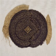 Fragment with Gold Foil, from a Furnishing Fabric
