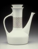 """Contempri"" shape pattern coffeepot with ""Hopscotch"" pattern decoration"