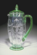 No. 14194 shape covered jug with 'Fontain' pattern