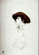 Recto:Portrait Study of Mrs. LydigVerso: Profile Study of a Woman in a Headdress