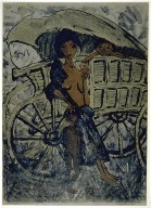 Gypsy Woman with Child before a Covered Wagon