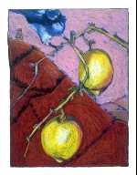 Blue Jay and Lemons