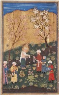 Yusuf, After His Ordeal in the Pit; Page from the Manuscript of Yusuf and Zulaykha of Jami