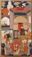 A Court Scene; Page from a Manuscript of Habib al-Siyar of Khwandamir