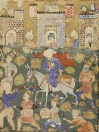 Entry of the Antichrist into Jerusalem, Illustrated Page from a Manuscript of the Falnama