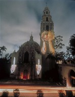 Projection On The San Diego Museum Of Man, Balboa Park, San Diego, California