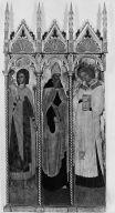 Virgin and Child with Saints Christopher, Augustine, Stephen, John the Baptist, Nicholas, and Sebastian