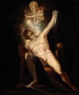 John Milton's Paradise Lost, Satan and the Birth of Sin (Book II, 746-758) Painting no. 6 from The Milton Gallery