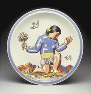 Chop plate with 'Salamina' pattern decoration