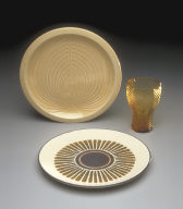 Plate with 'Fan Shell' pattern decoration from 'Sea Sculptures' series