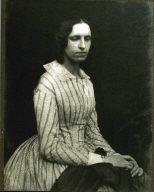 Unknown Woman with Striped Dress
