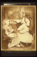 Unidentified Woman & Mrs. Hall (?)