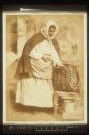Mrs. Barbara Johnstone Flucker Shucking Oysters