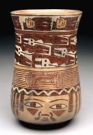 Head jar with trophy heads and interlocking snakes