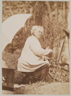Portrait of Camille Corot painting