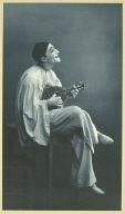 French clown with mandolin