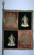 Banner with a Quartered Royal Arms of Spain and the Madonna and Child (banner)