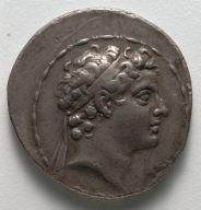 Tetradrachm: Head of the Child Antiochus V (obverse)