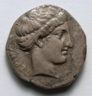 Stater: Head of Nymph (obverse)