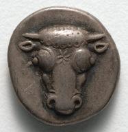 Half Drachm: Bull's Head Facing (obverse)