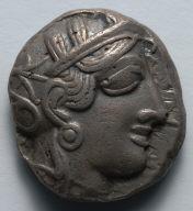 Athenian Tetradrachm: Female Head (obverse)