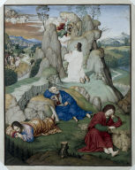 Full Page Miniature: The Agony in the Garden