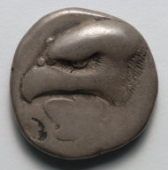 Stater: Large Eagle's Head above an Ivy Leaf (obverse)