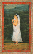 Woman Wearing Only Jewellery and White Gauze Garment