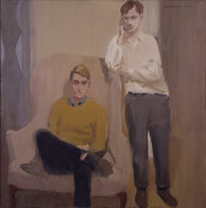 Portrait of Ted Carey and Andy Warhol