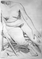 Seated Nude on Folding Chair