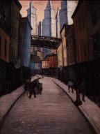 Street Scene in Lower New York