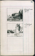 Artist's ledger - Book II: P. 63 LE QUAI DES GRANDS AUGUSTIN LE PONT ROYAL