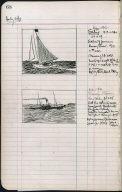 Artist's ledger - Book II: P. 68 SAILING TRAMP STEAMER