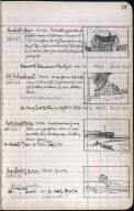 Artist's ledger - Book II: P. 37 MARSHALL'S HOUSE R.R. EMBANKMENT BACK OF FREIGHT STATION HOUSE BACK OF DUNES