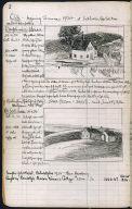 Artist's ledger - Book II: P. 2 DAUPHINE'S HOUSE MRS. SCOTT'S HOUSE