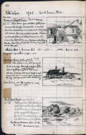 Artist's ledger - Book II: P. 40 HOUSE ON PAMET RIVER JENNESS HOUSE LOOKING NORTH THE FORKED ROAD