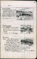 Artist's ledger - Book II: P. 41 LONGNOOK VALLEY PAMET RIVER ROAD HILL AND COW