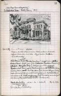 Artist's ledger - Book II: P. 77 THE MACARTHUR'S HOME