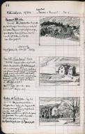 Artist's ledger - Book II: P. 44 VERMONT HILLSIDE HOUSE WITH A RAIN BARREL OAKS AT EASTHAM